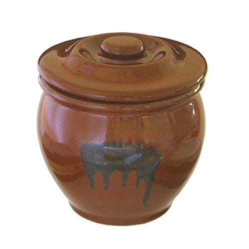 【送料無料】リビング 陶器製 ミニ壷 漬物 容器 蓋付 〔まとめ買い業務用にも最適】 0.54L 〔まとめ買い24個セット〕【代引不可】