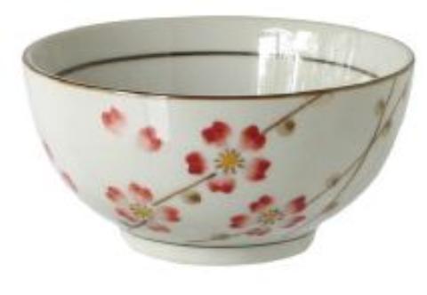 【送料無料】リビング 小梅 茶碗 〔まとめ買い120個セット〕【代引不可】