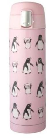 【送料無料】リビング ペンギン ワンタッチマグボトル 450ml ピンク 〔まとめ買い20個セット〕【代引不可】