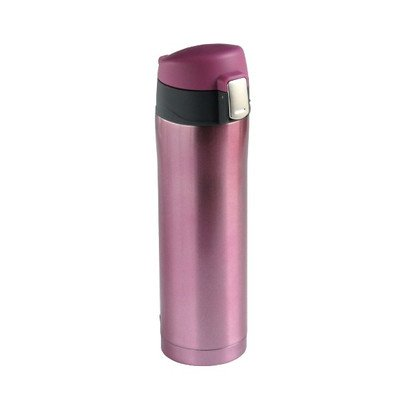【送料無料】リビング 水筒(魔法瓶) 直飲みタイプ 450ml メタリックピンク 〔まとめ買い20個セット〕【代引不可】