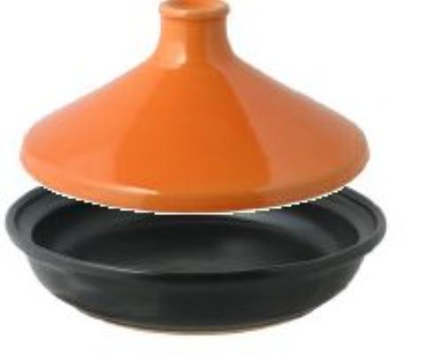 【送料無料】リビング COLOREDタジン鍋 24cm オレンジ 〔まとめ買い8個セット〕【代引不可】