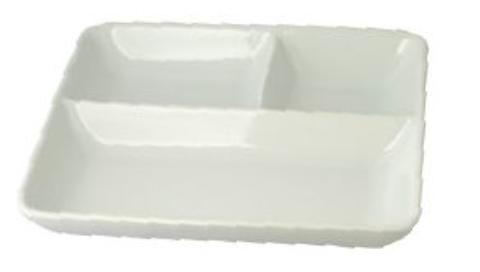 【送料無料】リビング ホワイト 長角ランチ皿 22.8×20.3cm 〔まとめ買い24個セット〕【代引不可】