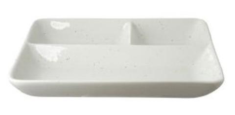 リビング 梨地 長角ランチ皿 22.8×20.3cm 〔まとめ買い24個セット〕【代引不可】