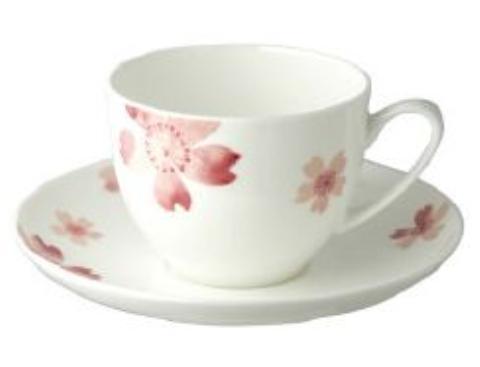 【送料無料】リビング 桜BCカップ&ソーサー 〔まとめ買い24個セット〕【代引不可】