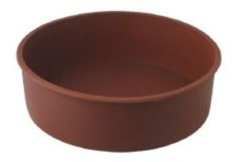 リビング クリス シリコン ホールケーキ型 20X6cm ブラウン 〔まとめ買い24個セット〕【代引不可】