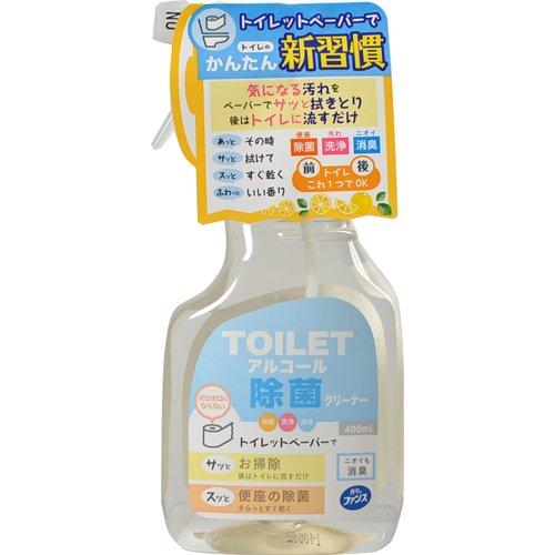 【送料無料】香りのファンス トイレアルコール除菌クリーナー 本体 400ml 〔まとめ買い120個セット〕