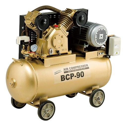【送料無料】ナカトミ(NAKATOMI) 3HPベルト式コンプレッサー三相200V BCP-90【代引不可】