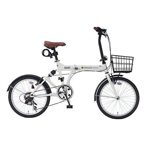 【送料無料】My Pallas(マイパラス) 折畳自転車 20インチ 6段ギア オールインワン カラー/アイボリー SC-07PLUS SC-07PLUS アイボリー 20インチ【代引不可】