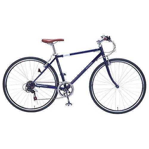 【送料無料】My Pallas(マイパラス) M-604 クロスバイク700C 6段ギア ブルー M604 ブルー【代引不可】