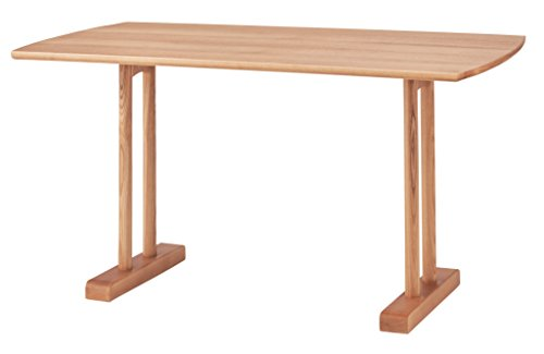 【送料無料】AZUMAYA エコモ ダイニングテーブル ナチュラル HOT-153NA【代引不可】