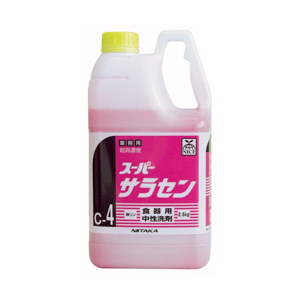 【送料無料】業務用 食器用洗剤 高濃度 スーパーサラセン(C-4) 2.5kg×6本 211864【代引不可】