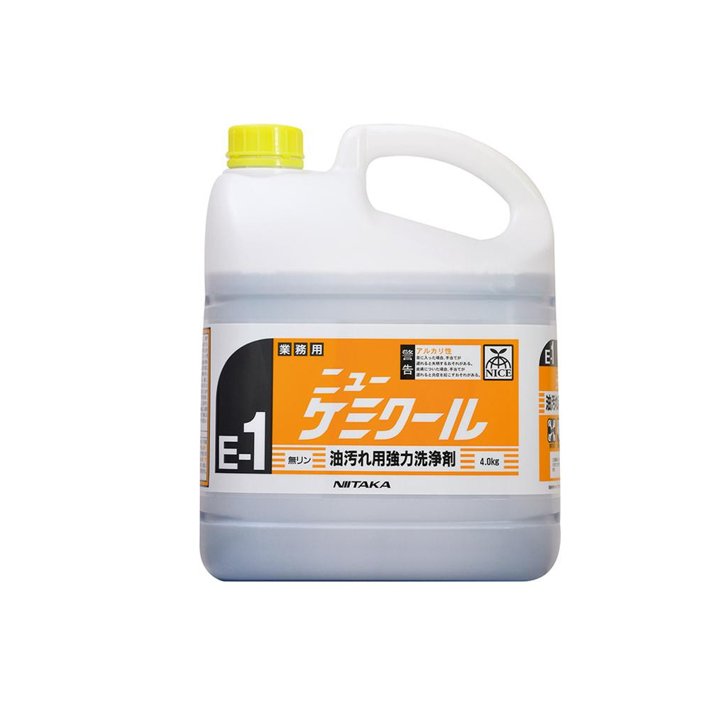 【送料無料】業務用 油汚れ用強力洗浄剤 ニューケミクール(E-1) 4kg×4本 230131【代引不可】