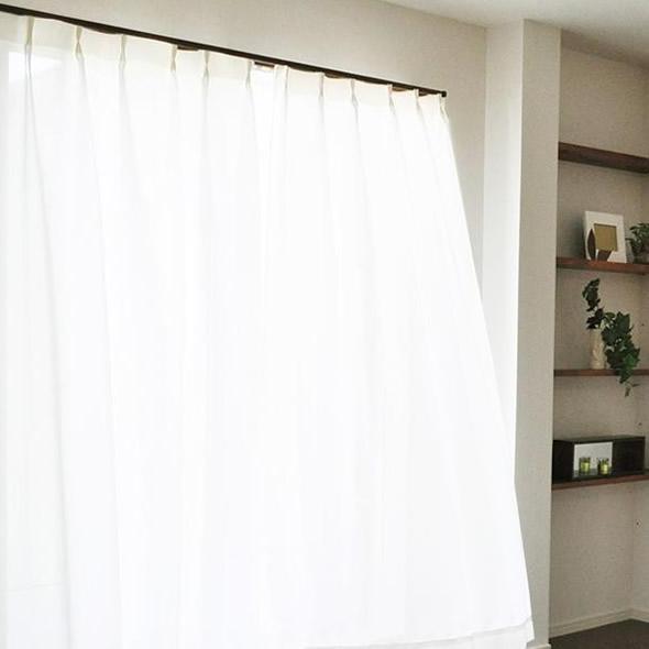 エアロカプセル×すずしや(R) 断熱UVカット省エネレースカーテン ホワイト 150×176cm丈 2枚組【代引不可】