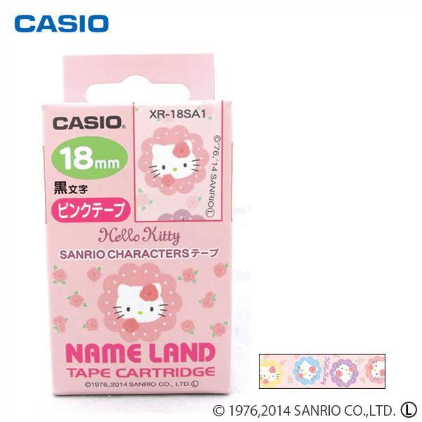 0e20a2261 CASIO Casio name land Sanrio character tape Hello Kitty (rose) XR-18SA1 *