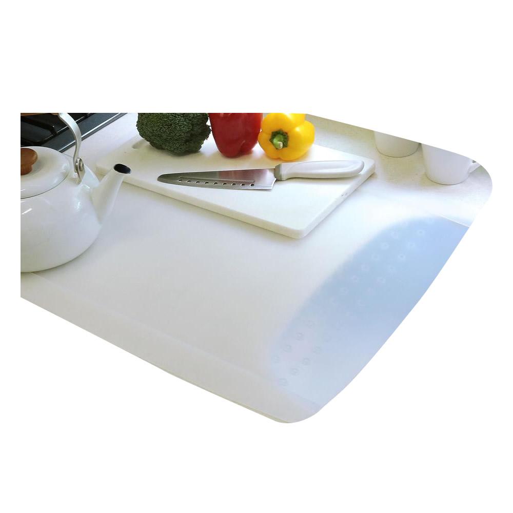 【送料無料】キッチン用 半透明保護マット (溝なしタイプ) 超特大80×60cm【代引不可】