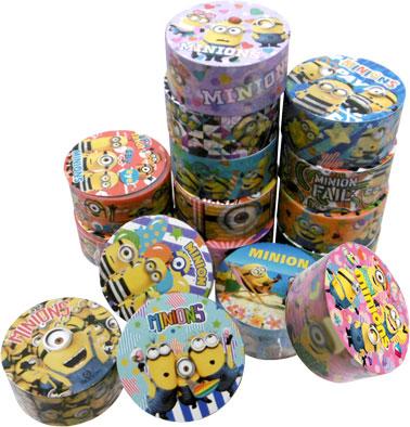 ミニオズマスキングテープ アソート 16種 SY-2254 〔まとめ買いカートン半分/640個セット〕【代引不可】【北海道・沖縄・離島配送不可】