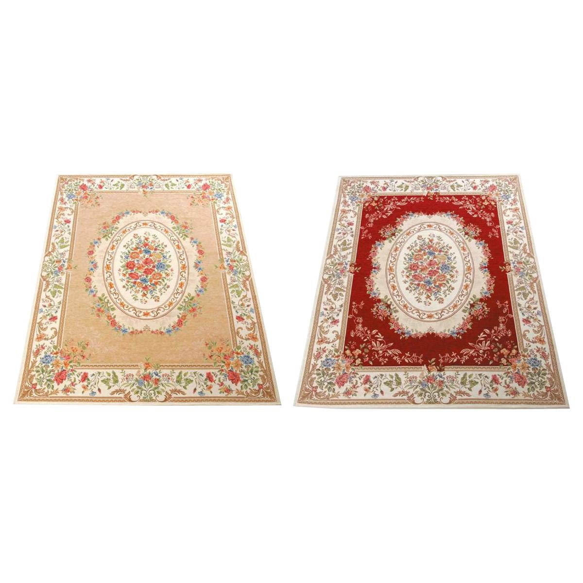 【送料無料】ゴブラン織 シェニールカーペット 3畳用(約200×250cm) レッド・YAN13825RE【代引不可】