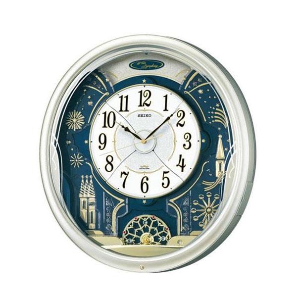 【送料無料】SEIKO セイコークロック 電波クロック 掛時計 からくり時計 ウエーブシンフォニー RE561H【代引不可】