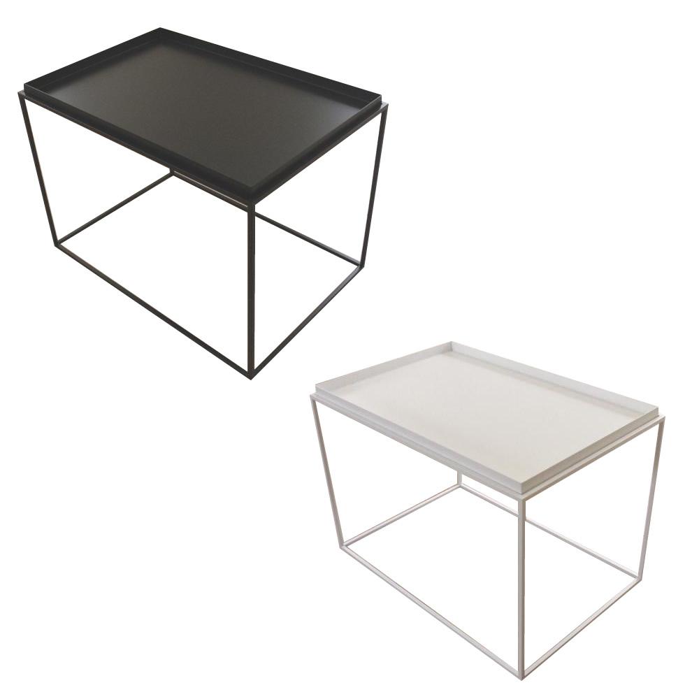 【送料無料】トレイテーブル サイドテーブル 600×400mm ホワイト・HWT-044【代引不可】