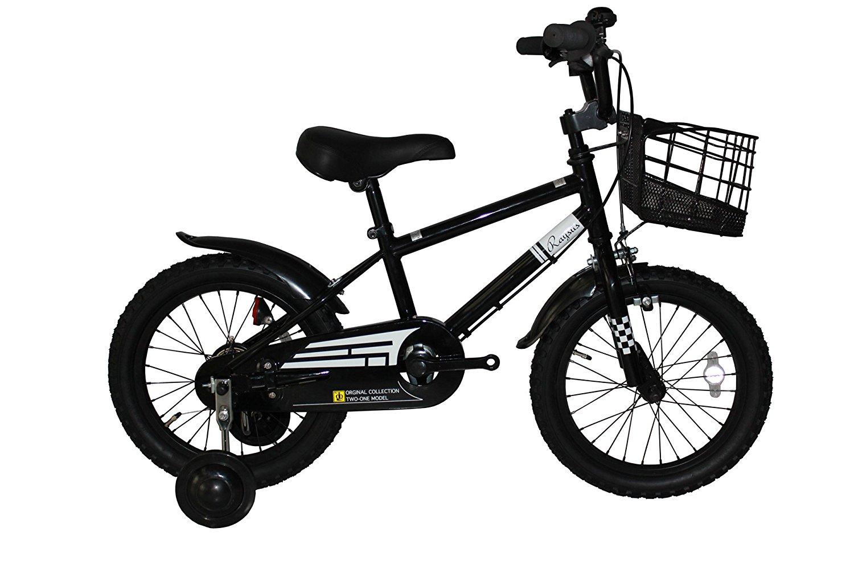 【送料無料】Raysusレイサス 自転車 16インチ RY-16NKN-H-BK 子供自転車 キッズバイク 95%完成車 (ブラック) 【代引不可】