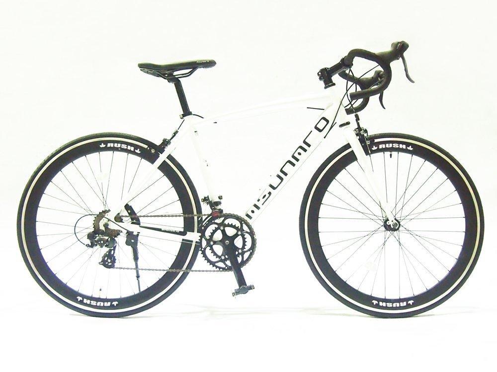 【送料無料】ASUNAROアスナロ 自転車 AN-7014ALD-H Abura(アビューラ) ロードバイク 700×23c (マットホワイト)【代引不可】