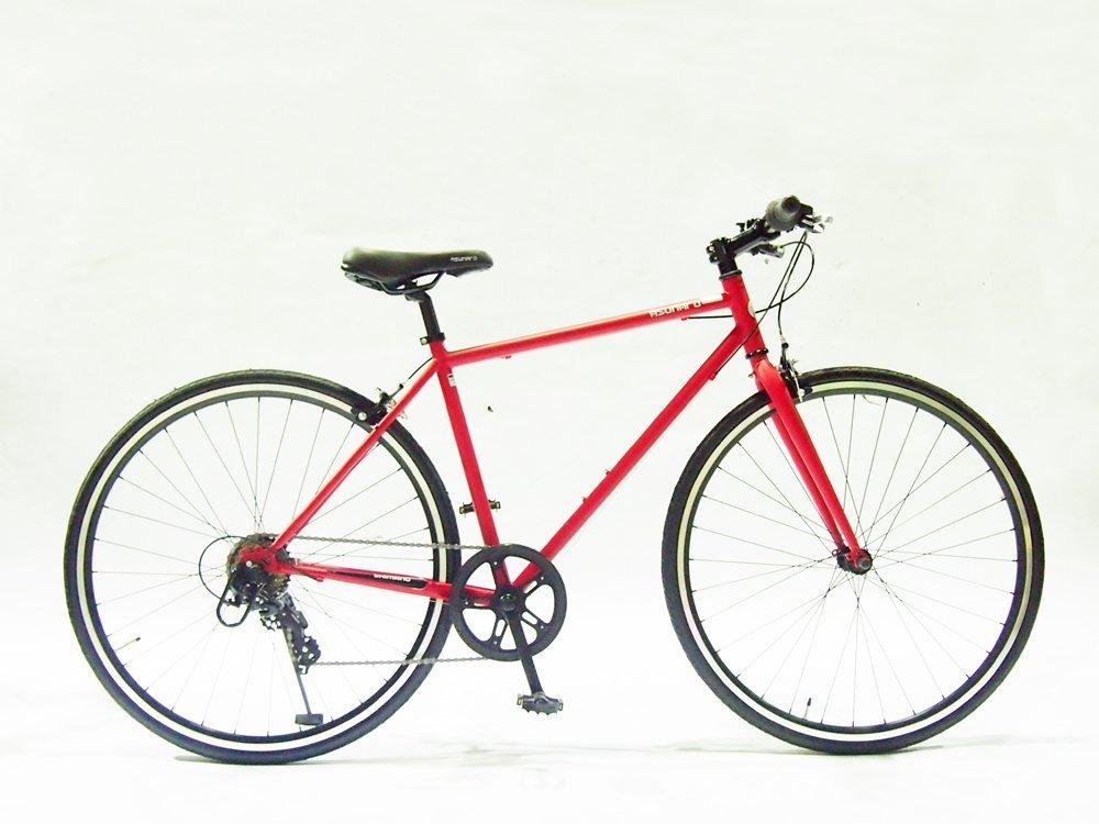 【送料無料】ASUNAROアスナロ 自転車 AN-707CN Clove(クローヴ) 700×28cクロスバイク 100%完成車 (マットレッド)【代引不可】