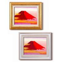 【送料無料】丹羽勇 油絵額F6 「赤富士」 1154740・金【代引不可】