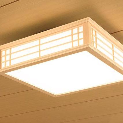 OHM LED和風シーリングライト 電球色 LE-W50LBK-K【代引不可】【北海道・沖縄・離島配送不可】