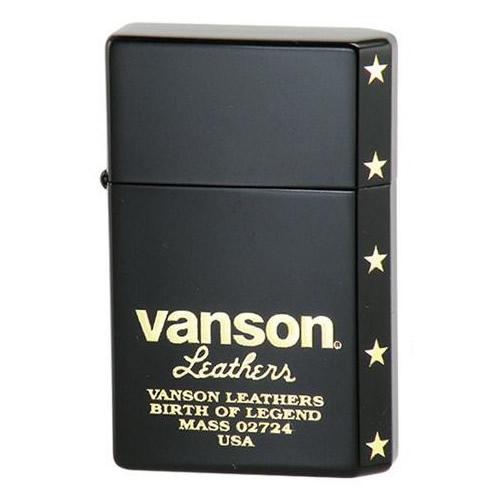 【送料無料】オイルライター vanson×GEAR TOP V-GT-06 ロゴデザイン ブラック【代引不可】
