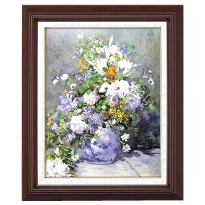 ルノワール名画額F6「花瓶の花」【代引不可】【北海道・沖縄・離島配送不可】