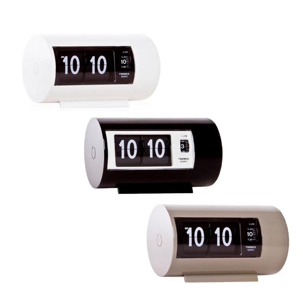 TWEMCO(トゥエンコ) 置き時計 パタパタアラームクロック AP-28 ホワイト【代引不可】【北海道・沖縄・離島配送不可】