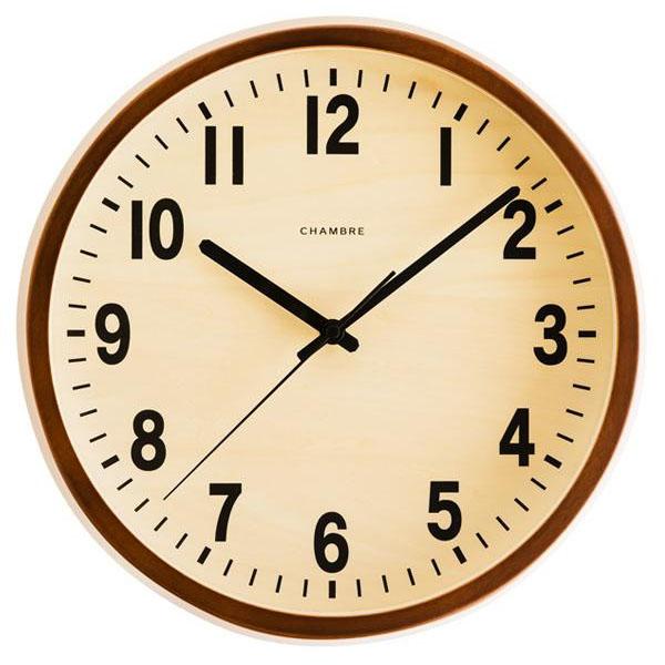 日本製 CHAMBRE PUBLIC CLOCK パブリッククロック 掛け時計 NATURAL・CH-027BC【代引不可】【北海道・沖縄・離島配送不可】