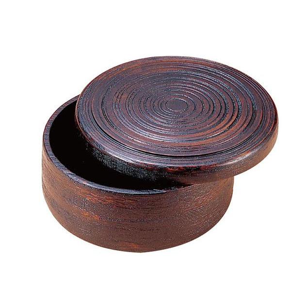【送料無料】かのりゅう 木製 荒筋はつり 尺2寸 茶櫃 JA17-13-30s【代引不可】