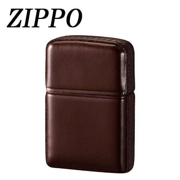 ZIPPO 革巻 松阪牛 ブラウン【代引不可】