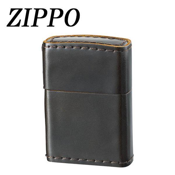 ZIPPO 革巻 コードバン ブラウン【代引不可】