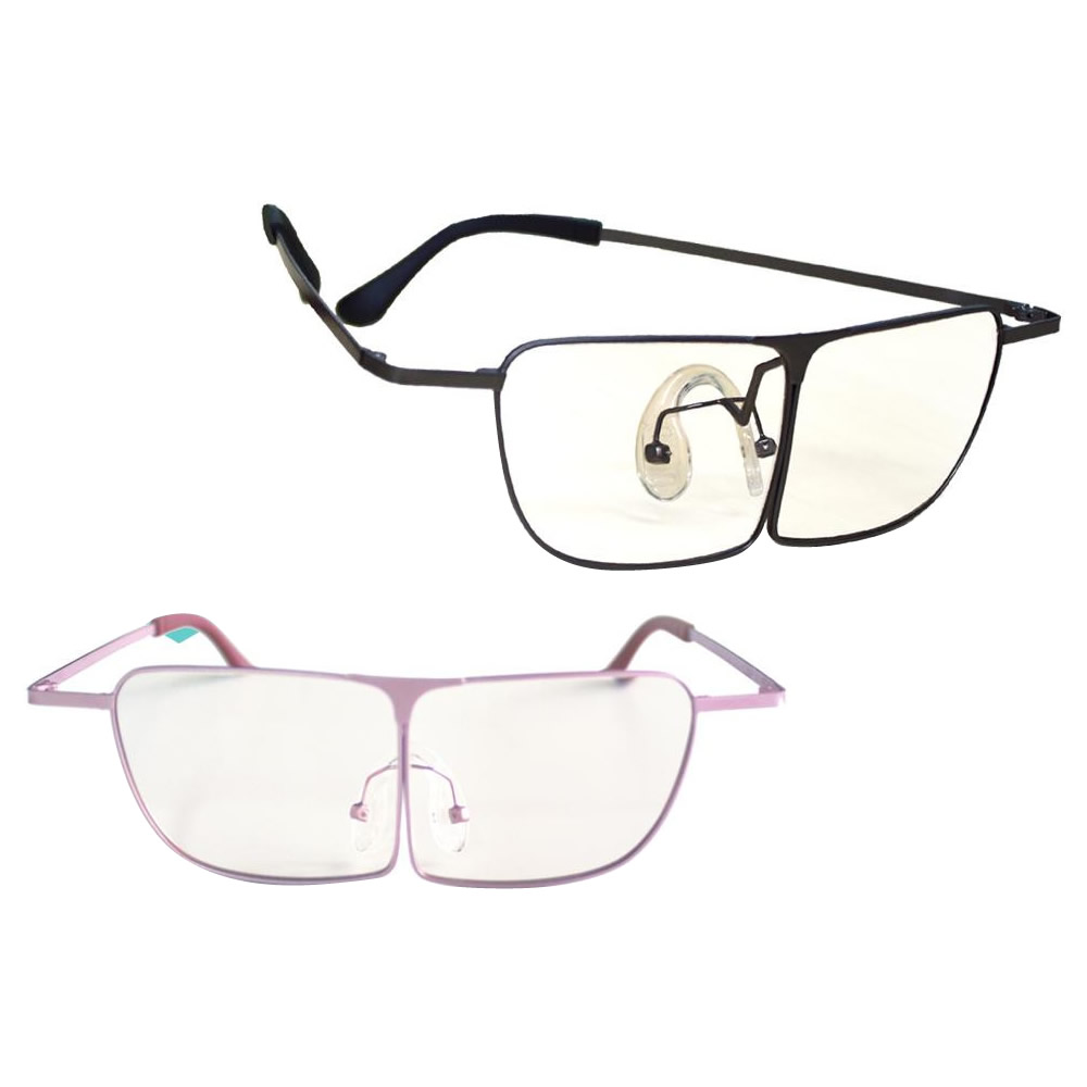 メガネ式 両手が使える機能性ルーペ ラボズーム +1.8(3.0D) 2998-1430・ピンク【代引不可】