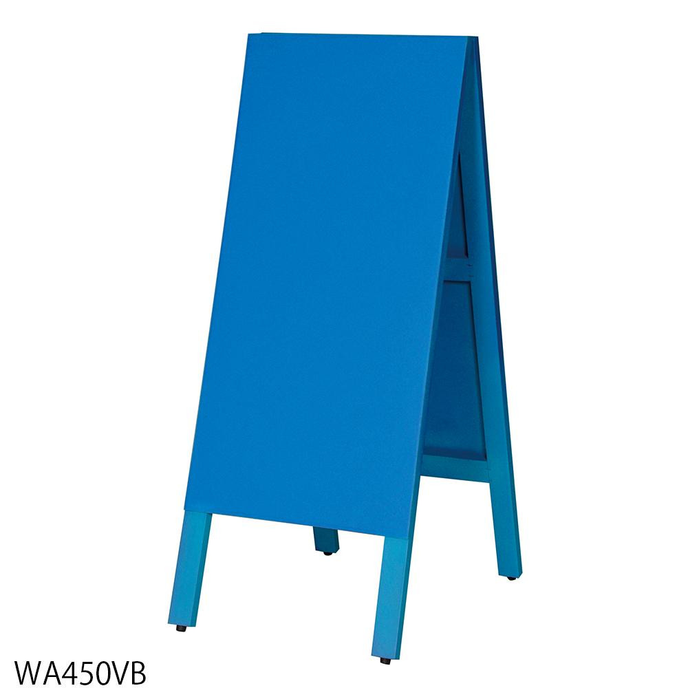 馬印 多目的A型案内板 青いこくばん WA450VB【代引不可】【北海道・沖縄・離島配送不可】