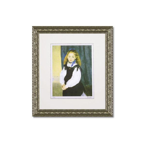 【送料無料】ユーパワー ミュージアムシリーズ(ジクレー版画) アートフレーム ルノワール 「ルグラン嬢の肖像」 MW-18038【代引不可】