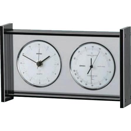 【送料無料】EMPEX(エンペックス気象計) スーパーEX ギャラリー温・湿度・時計 EX-792【代引不可】