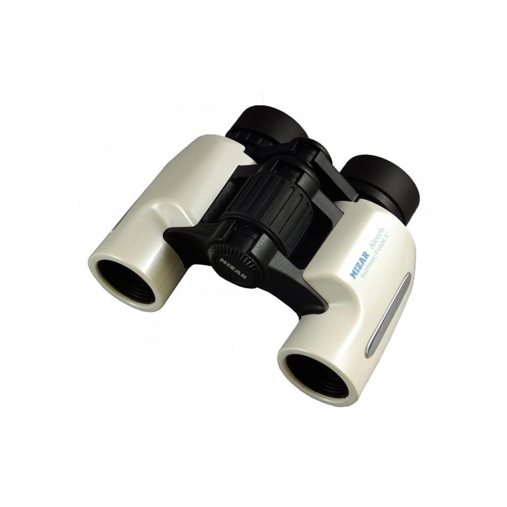 MIZAR(ミザールテック) 双眼鏡 6倍 24mm口径 ポロプリズム式 スタンダード Alcor6 パールホワイト【代引不可】