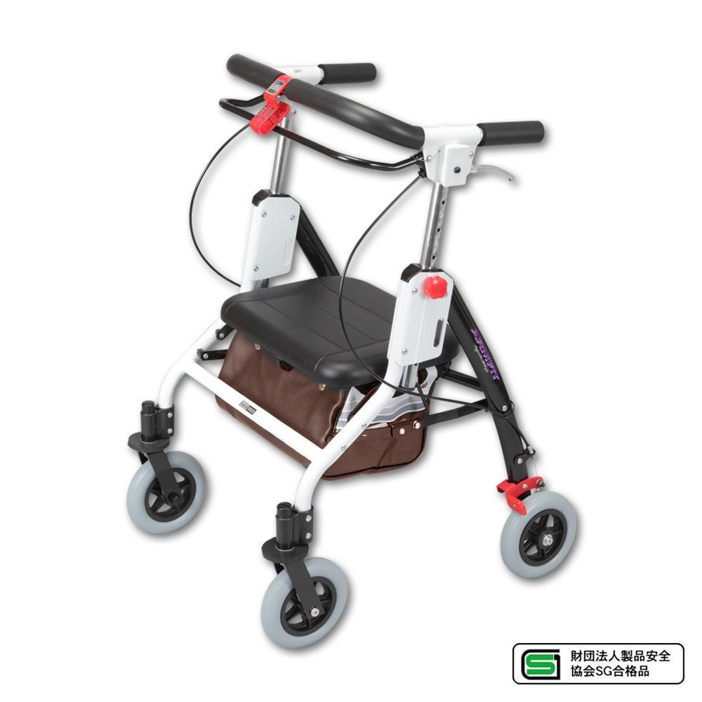 【送料無料】アームフィット 室内専用歩行車 ブラウン AR-428【代引不可】