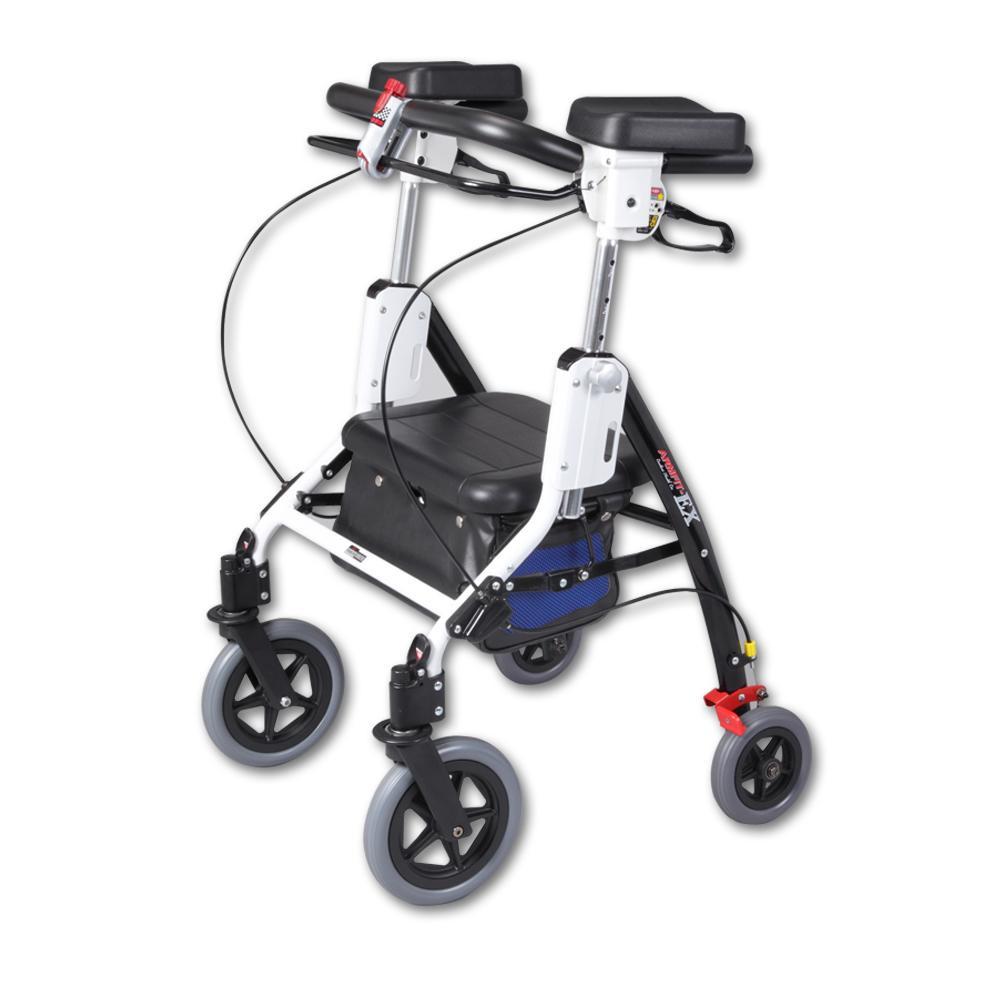 【送料無料】アームフィットEX 室内外兼用歩行車 肘置パッド付 ブルー AREX-590E【代引不可】
