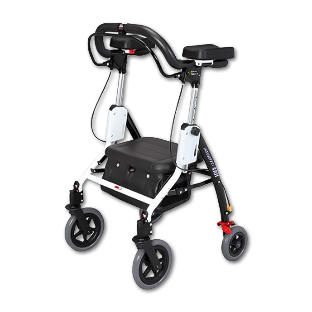 【送料無料】アームフィットEXR 室内外兼用歩行車 肘置パッド付 ブラック EXR-698E【代引不可】