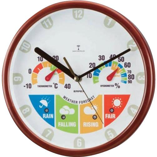 EMPEX(エンペックス気象計) ウェザーパル電波時計・JOY BW-875 【代引不可】【北海道・沖縄・離島配送不可】