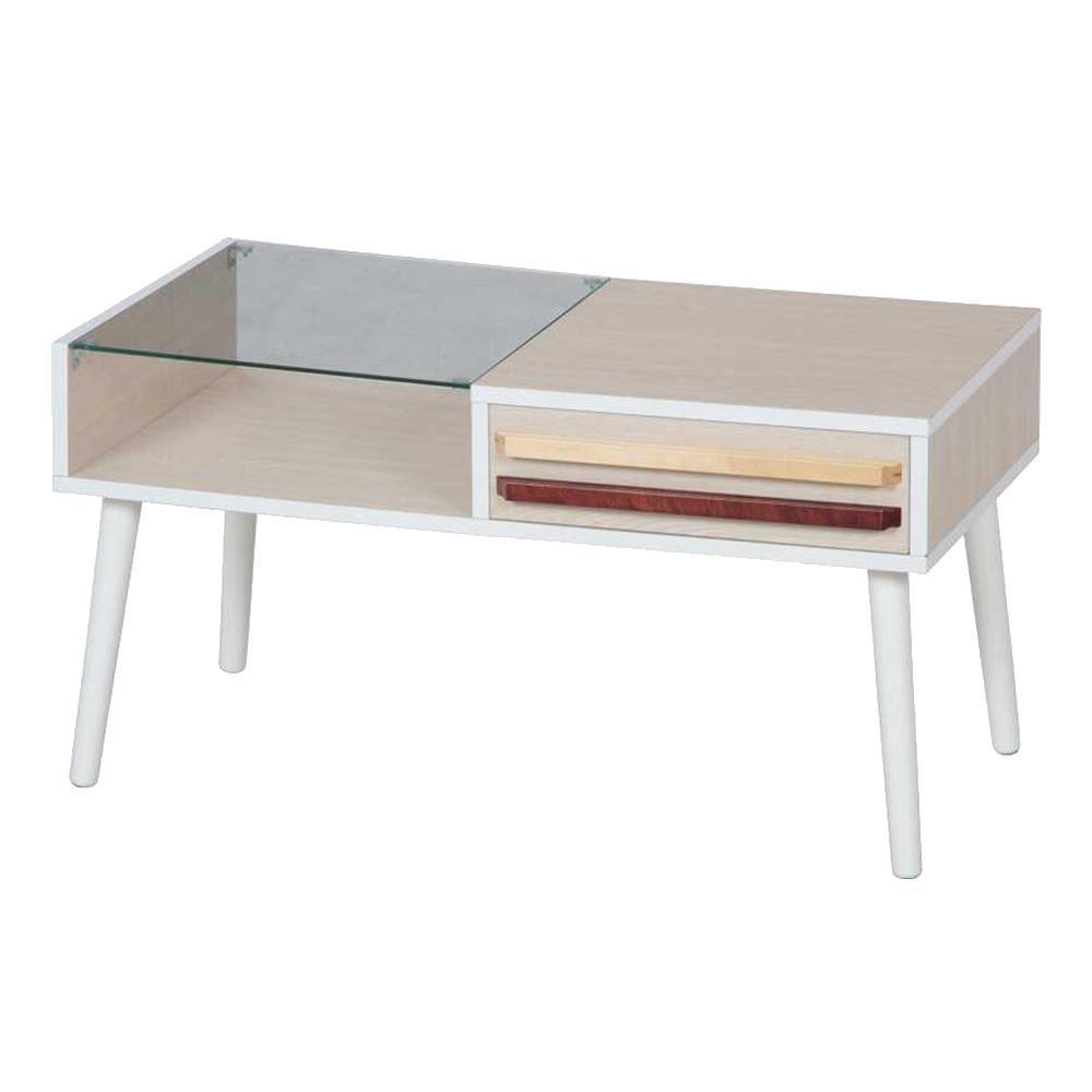 【送料無料】リビングテーブル オスロ ホワイトウォッシュ 10033 【代引不可】