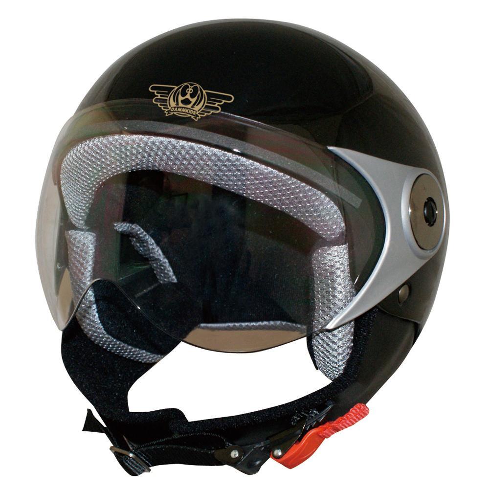 ダムトラックス(DAMMTRAX) バイクヘルメット ダムキッズ ポポGT BLACK 【代引不可】【北海道・沖縄・離島配送不可】