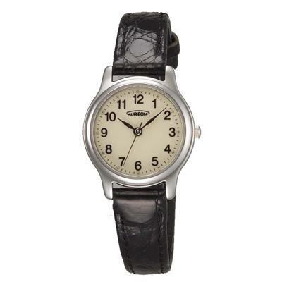 AUREOLE(オレオール) レザー レディース腕時計 SW-467L-4 【代引不可】【北海道・沖縄・離島配送不可】