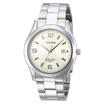 AUREOLE(オレオール) ドレス メンズ腕時計 SW-409M-4 【代引不可】【北海道・沖縄・離島配送不可】