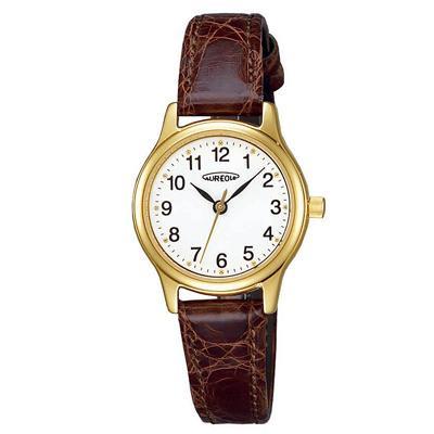 AUREOLE(オレオール) レザー レディース腕時計 SW-467L-2 【代引不可】【北海道・沖縄・離島配送不可】