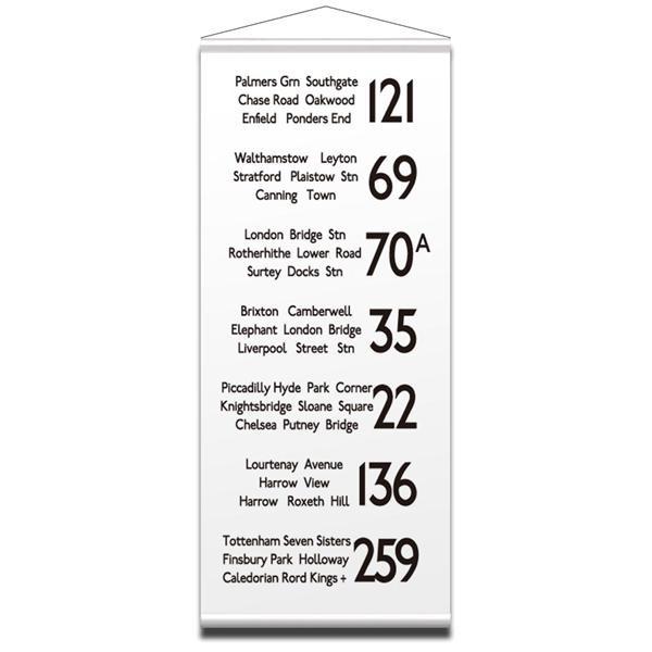 【送料無料】バスロールサイン タペストリー LONDON 2 IBR-51724 【代引不可】